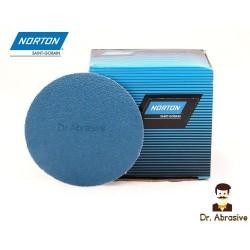 """125mm 5"""" Norton Zirconium sanding discs, hook and loop, no hole, P40-400"""