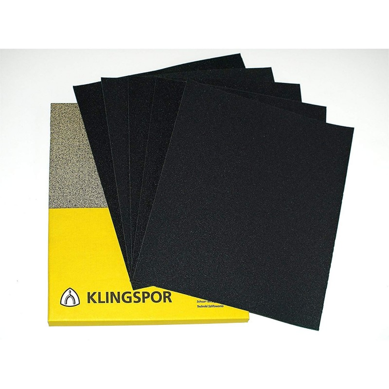 Wet or dry Klingspor sanding sheets, P60-2000
