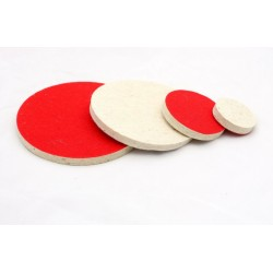 50mm, 75mm, 125mm, 150mm 3M Felt polishing disc, hook & loop, 10mm thick