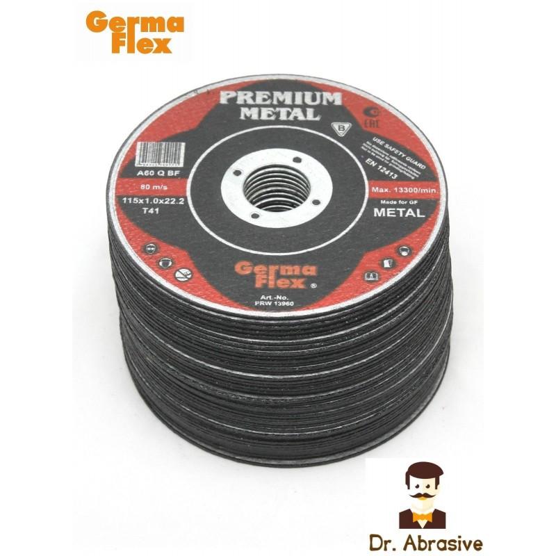 """115mm 5"""" GermaFlex Cutting Discs Metal 115x1,0x22,2"""