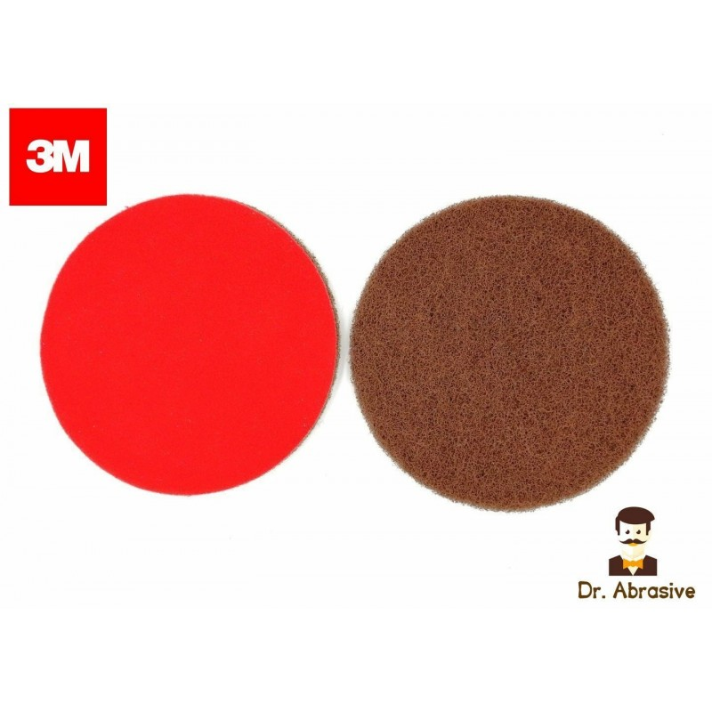 75mm 3M Scotch Brite wet or dry sanding discs, hook and loop