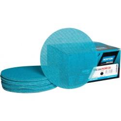 "150mm 6"" Ceramic MeshPower Norton, wet or dry sanding discs, hook and loop, P80-400"