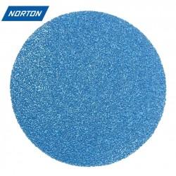 """75mm 3"""" Norton Zirconium sanding discs, hook and loop, P40-400"""