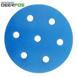 """90mm 3.5"""" Wet or dry Deerfos sanding discs, hook and loop, 7 hole (Festool), P40-3000"""
