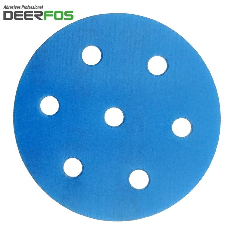 "90mm 3.5"" Wet or dry Deerfos sanding discs, hook and loop, 7 hole (Festool), P40-3000"
