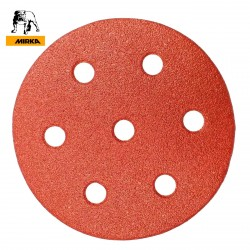 "90mm 3.5"" Mirka hook and loop sanding discs, 7 hole (for Festool Rotex), P40-240"