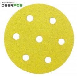 90mm CA331 Deerfos sanding discs for Festool Rotex RO 90 DX, hook and loop, 7 hole, p40-240