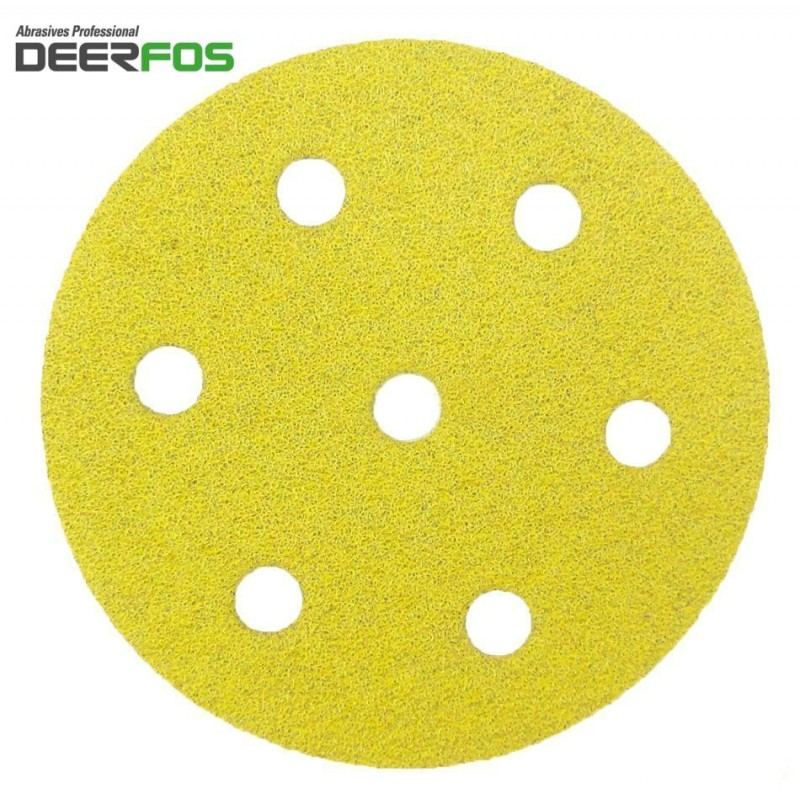90mm CA331 Deerfos sanding discs for Festool Rotex RO 90 DX, hook and loop, 7 hole, p40-240