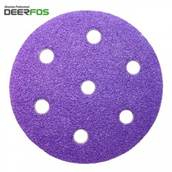 "90mm 3.5"" ceramic wet or dry Deerfos Bora 1 sanding discs for Festool Rotex, hook and loop, P40-120"