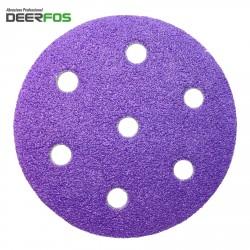 "90mm 3.5"" ceramic wet or dry Deerfos Bora 1 sanding discs for Festool Rotex, hook and loop, P40-120"