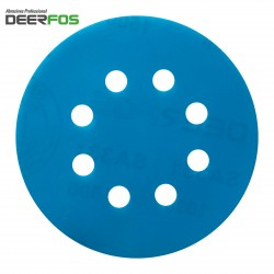"""125mm 5"""" Wet or dry Deerfos sanding discs, hook and loop 8 hole P40-3000"""