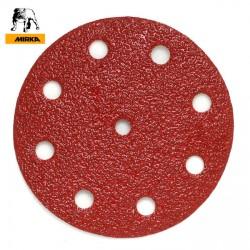 "125mm 5"" Mirka sanding discs, hook and loop, 9 hole (Festool pattern), P40-600"