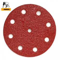 "125mm 5"" Mirka sanding discs, hook and loop, 9 hole (Festool pattern), P40-600"