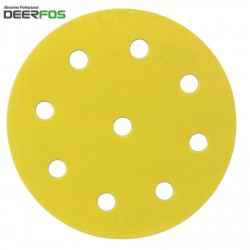 "125mm 5"" Deerfos sanding discs for Festool, hook and loop, 9 hole, P 40-400"