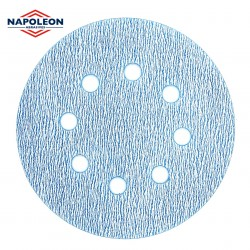 Wet or dry Napoleon sanding discs, 8 hole, hook and loop, P80-2000