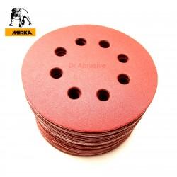 "125mm 5"" Mirka sanding discs, hook and loop, 8 hole, P40-600"