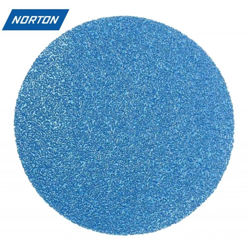 """150mm 6"""" Norton Zirconium sanding discs, hook and loop, P40-400"""