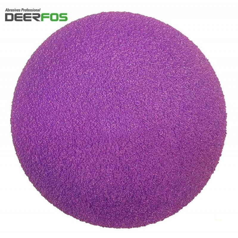 "150mm 6"" ceramic wet or dry Deerfos sanding discs, hook and loop, P40-120 HOOK AND LOOP, NO HOLE, P40-3000"