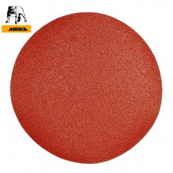 "180mm 7"" Mirka sanding discs, hook and loop, no hole, P40-600"