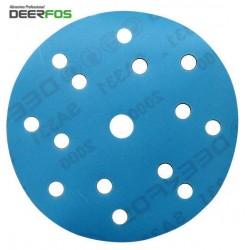"""150mm 6"""" Wet or dry Deerfos sanding discs, hook and loop, 15 hole, P40-3000"""