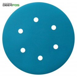 "150mm 6"" Wet or dry Deerfos sanding discs, hook and loop, 6 hole, P40-3000"