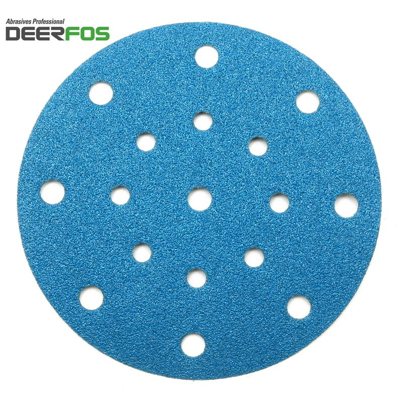 "150mm 6"" Wet or dry Deerfos sanding discs, hook and loop, 17 hole, P40-3000"