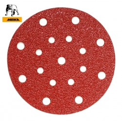 "150mm 6"" Mirka hook and loop sanding discs, 17 hole (fits Festool / Rupes), P40-220"