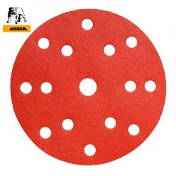 "150mm 6"" Mirka sanding discs, hook and loop, 15 hole, P40-220"