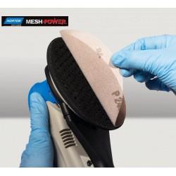 """150mm 6"""" Corundum MeshPower Norton, wet or dry sanding discs, hook and loop, P80-400"""