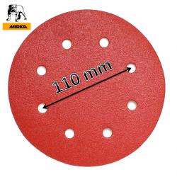 "180mm 7"" Mirka sanding discs, hook and loop, 8 hole (fits Workzone 750W), P40-320"