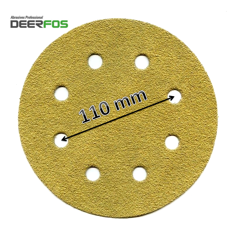 180mm Deerfos sanding discs, fits Workzone 750W, hook and loop, P40-240