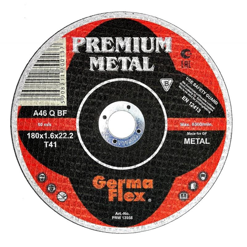 180mm GermaFlex Cutting Discs Metal 180x1.6x22.2
