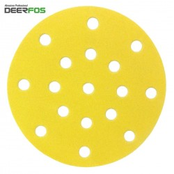 "150mm 6"" Deerfos sanding discs for Festool Rotex, hook and loop,17 hole, P40-400"
