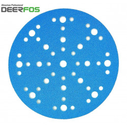 "150mm 6"" Wet or dry Deerfos sanding discs, 48 hole, hook and loop, P40-320"