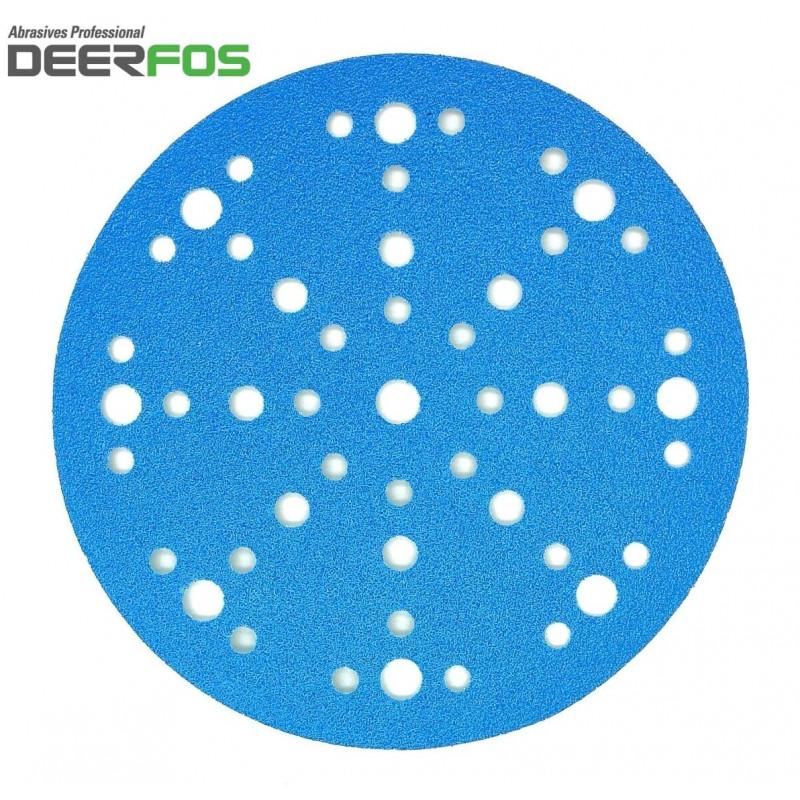 """150mm 6"""" Wet or dry Deerfos sanding discs, 48 hole, hook and loop, P40-320"""