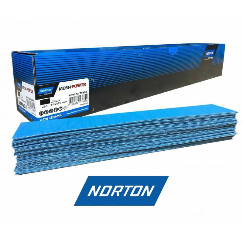 70x198mm Norton MeshPower Ceramic Hook and Loop Sanding Strips Blocks