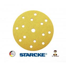 """150mm 6"""" Starcke sanding discs, hook and loop, 15 hole, P80-3000"""