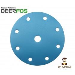 """150mm 6"""" Wet or dry Deerfos sanding discs, hook and loop, 9 hole, P40-3000"""