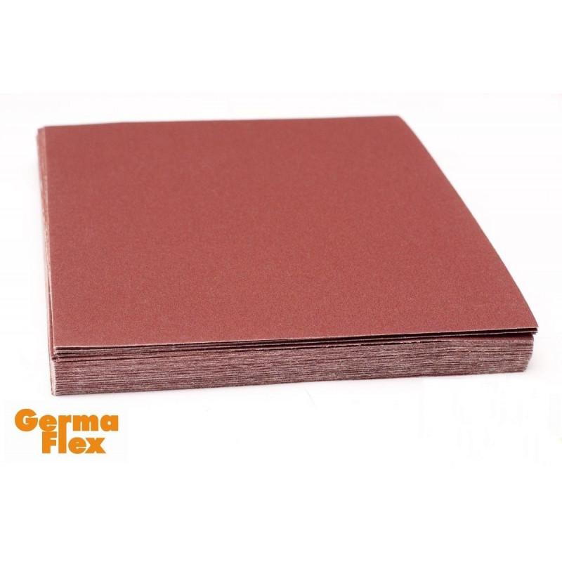 Emery cloth sandpaper sheets GermaFlex, P40-P400